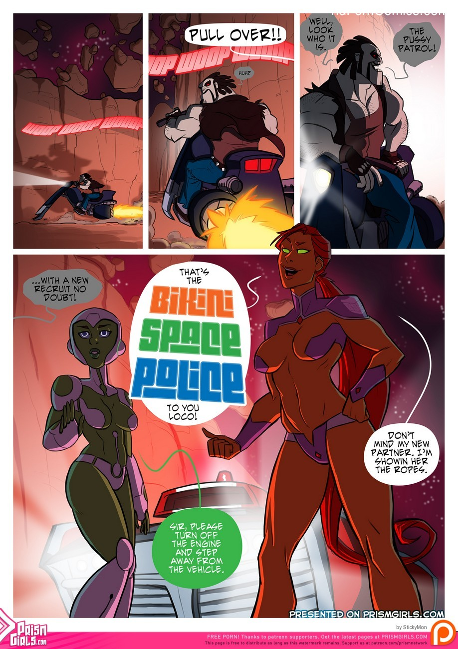 Bikini Space Police - Stop And Frisky 2 free sex comic