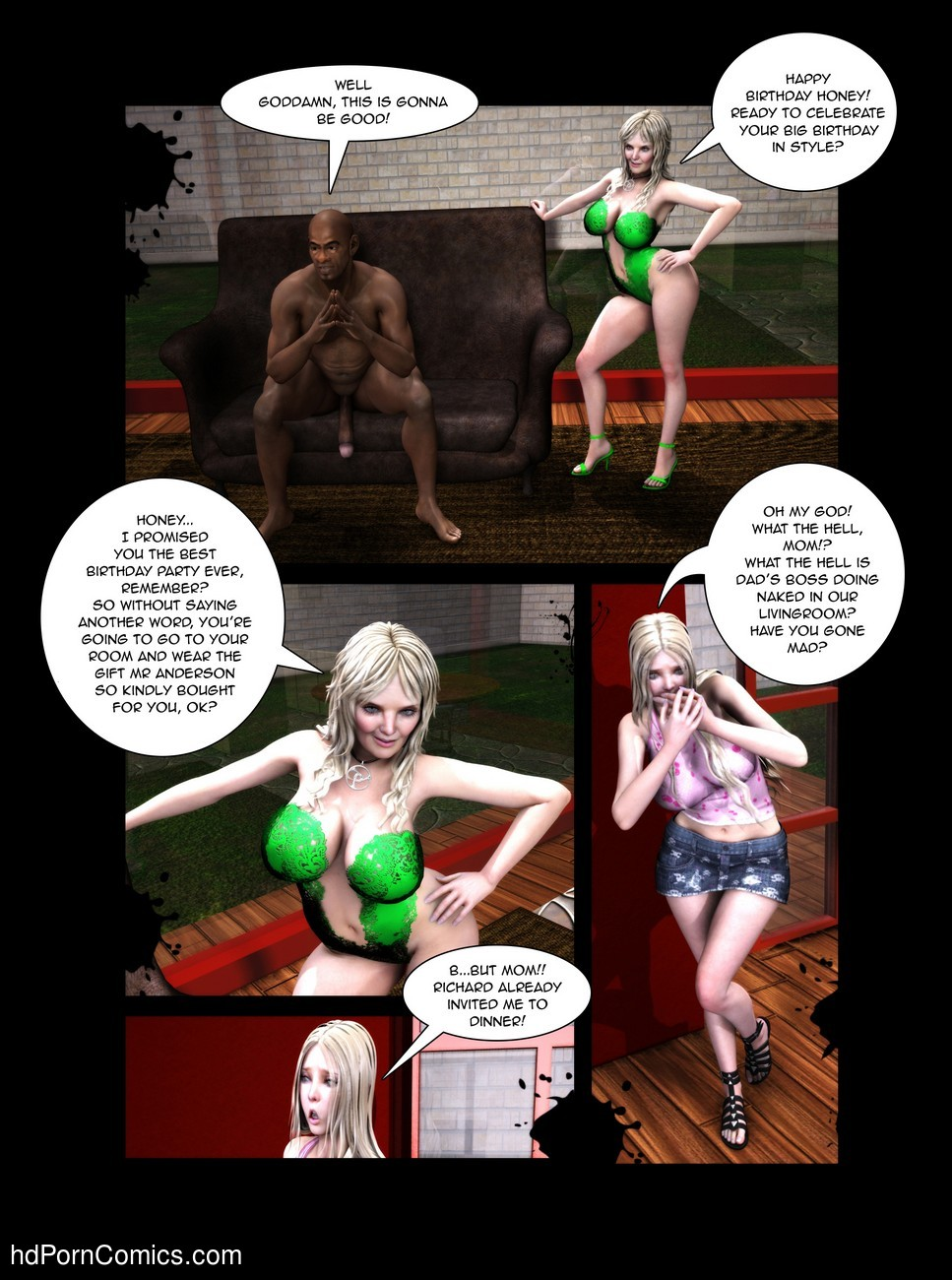 Black Birthday 1 2 free sex comic
