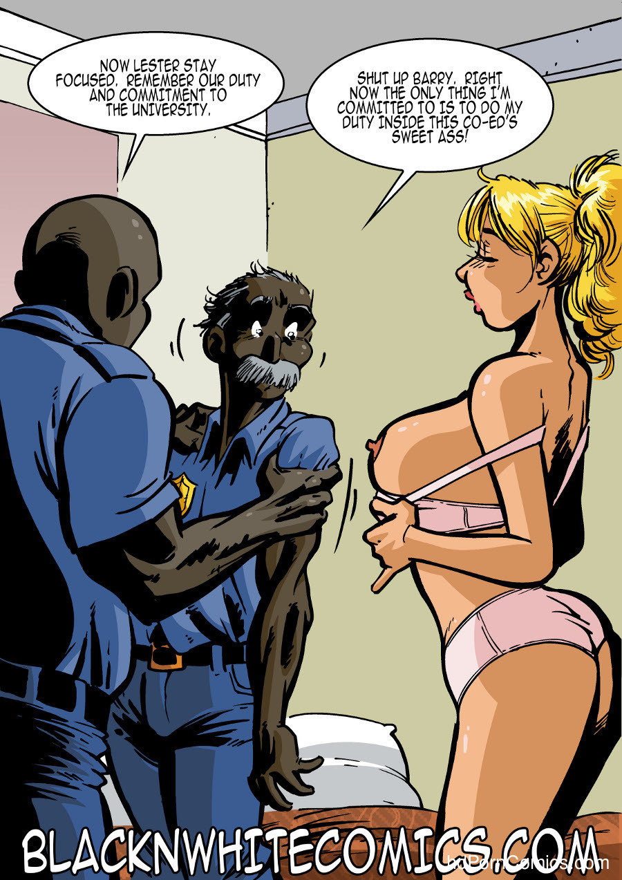 BlackNwhite- Campus Police8 free sex comic