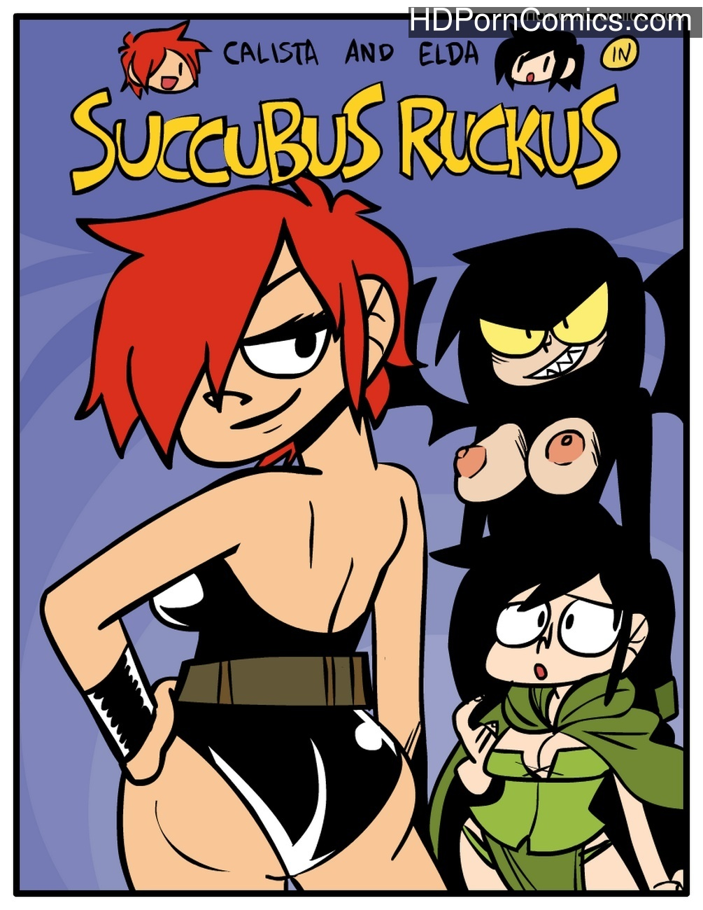 Calista And Elda In Succubus Ruckus Sex Comic