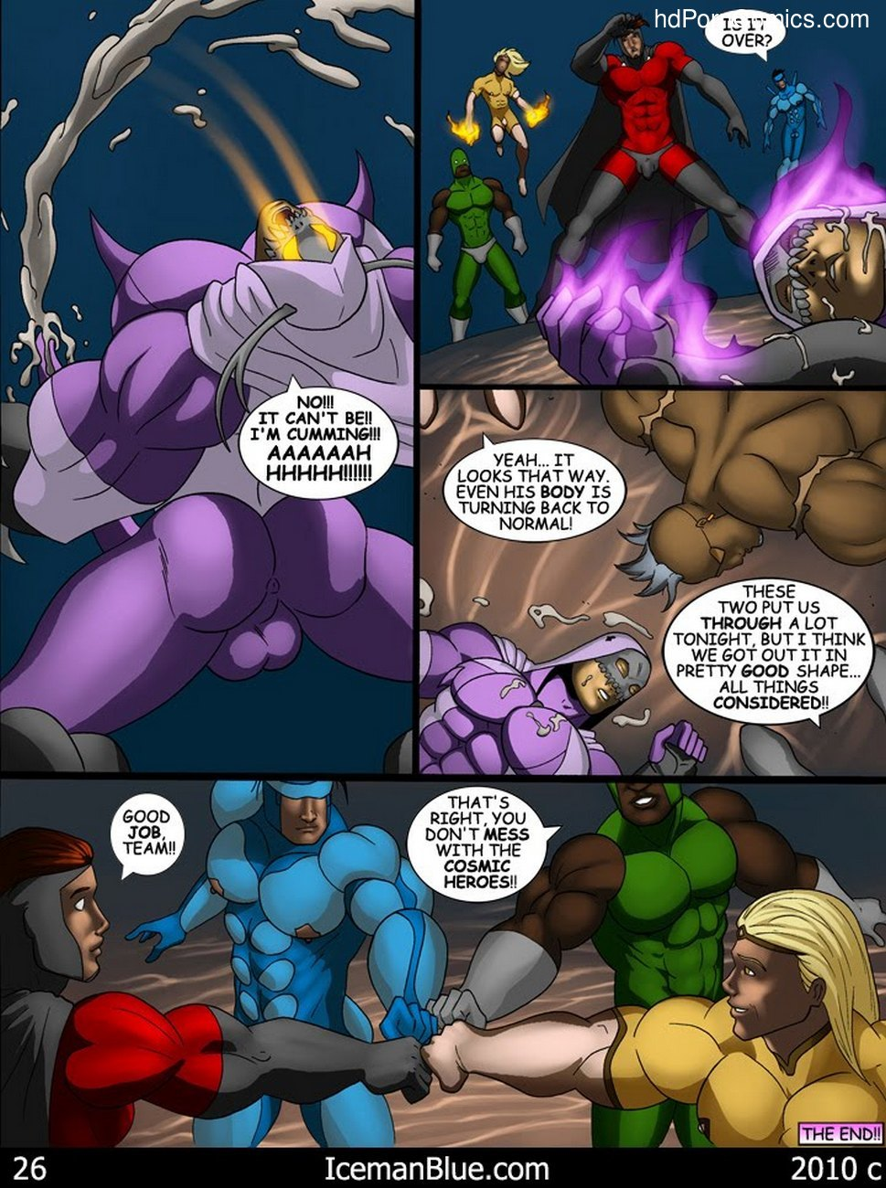 Cosmic Heroes 1 Sex Comic