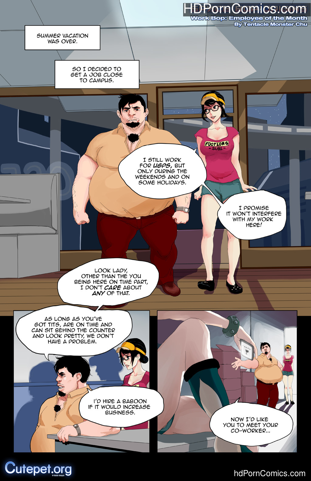 Cutepet- Employee of the Month free Cartoon Porn Comic