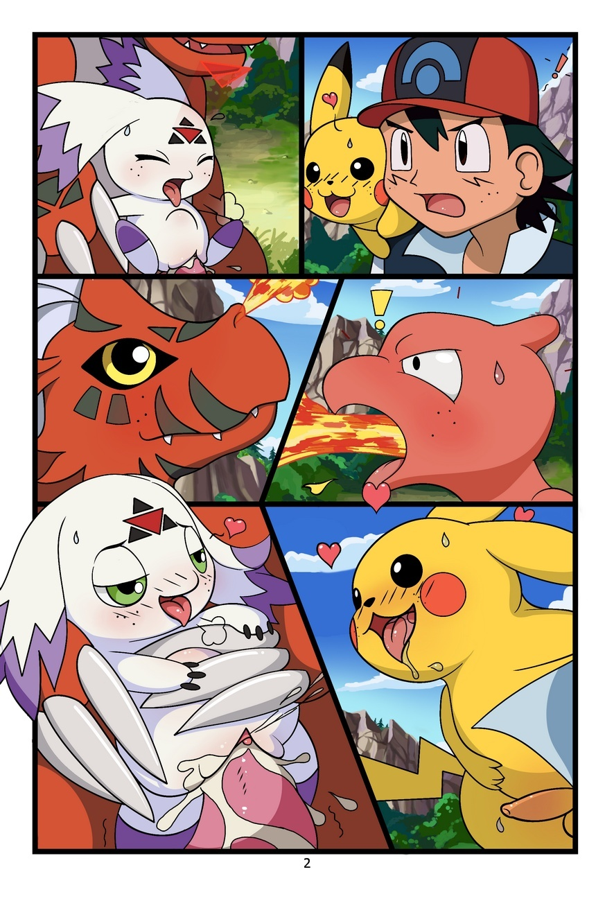 Digimon vs Pokemon 3 free sex comic