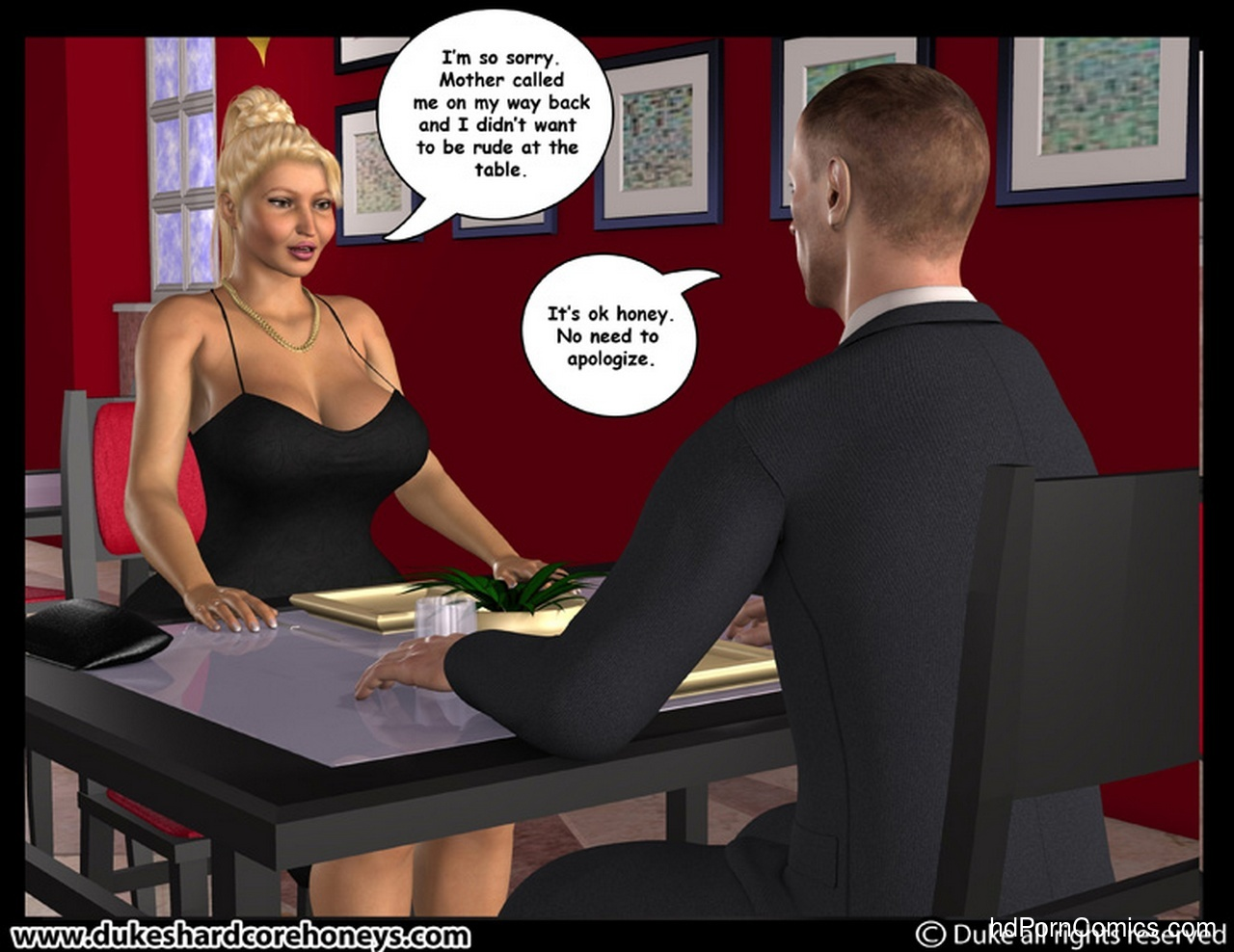 Dinner date with two amazing tits 10