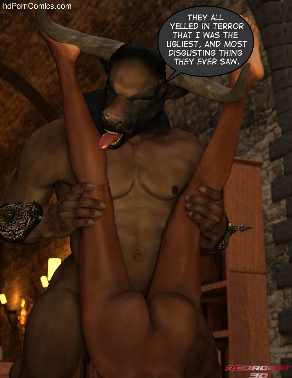 Gay Furry Minotaur Porn Comic - ... Escape-From-Lair-Of-The-Minotaur13 free sex comic