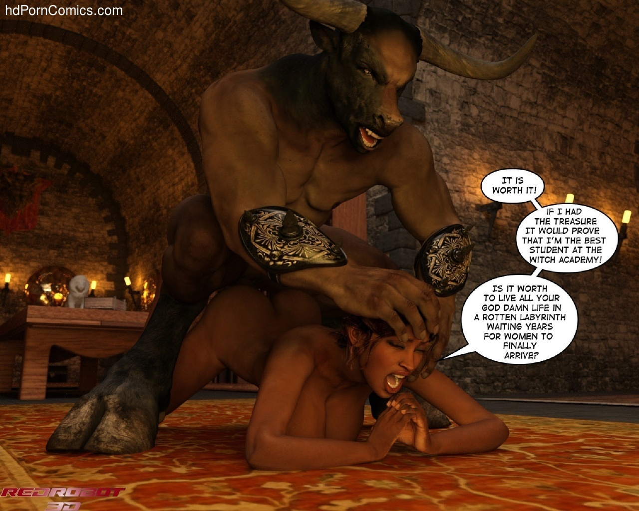 Gay Furry Minotaur Porn Comic - ... Escape-From-Lair-Of-The-Minotaur9 free sex comic