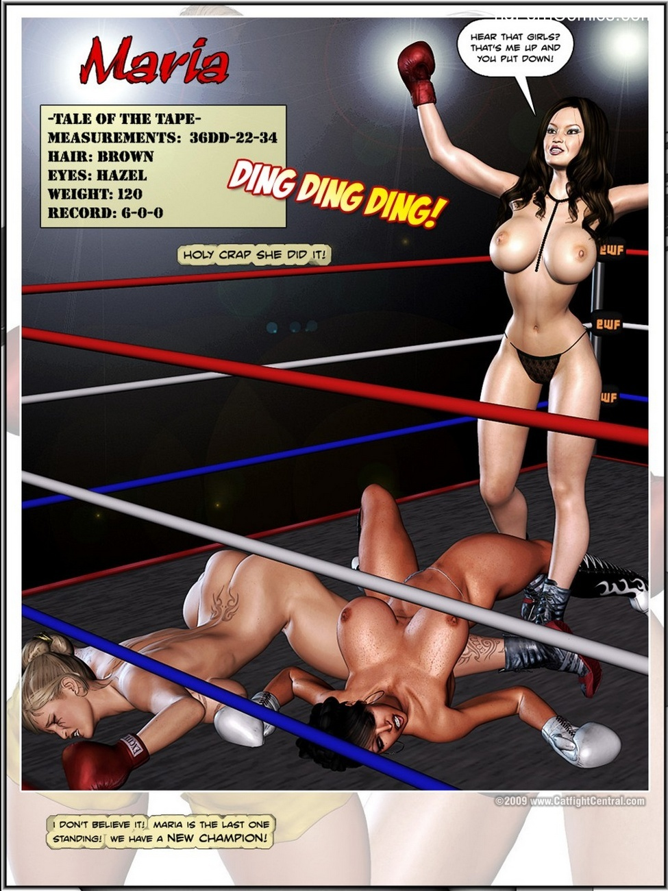 Foxy Boxing – Maria VS Victoria Sex Comic