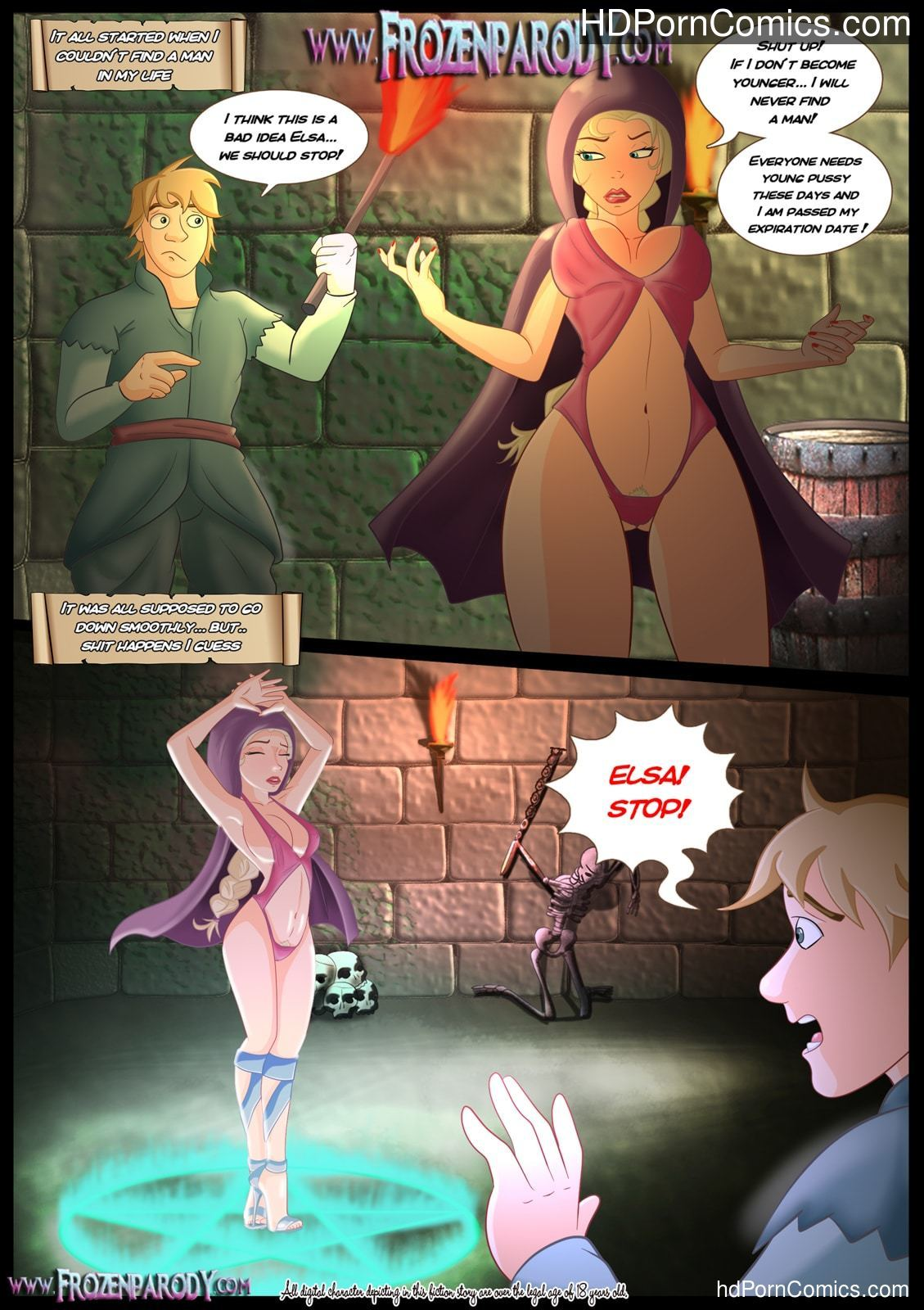 Porn parody cartoon Frozen Parody – 11 free Cartoon Porn Comic