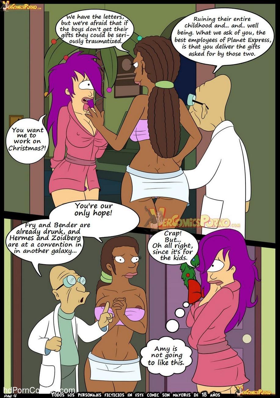 Futurama - Christmas Delivery 5 free sex comic