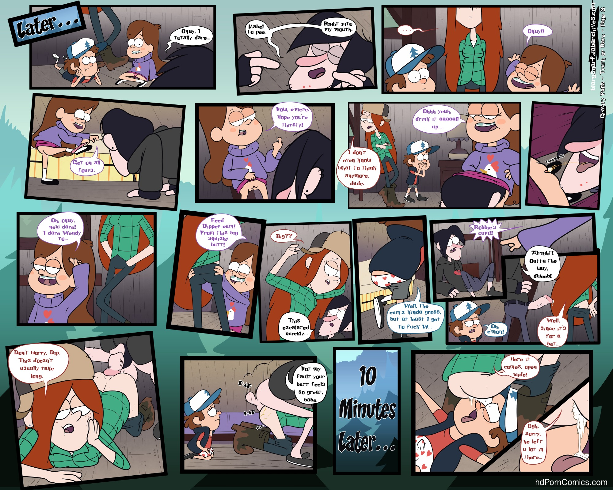 Gravity falls- truth or dare4 free sex comic