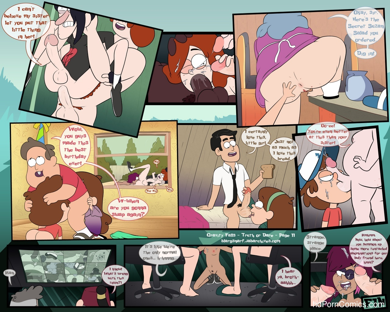 Gravity Falls – Truth Or Dare Sex Comic