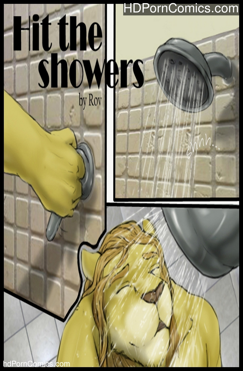 furry gay comic in the shower