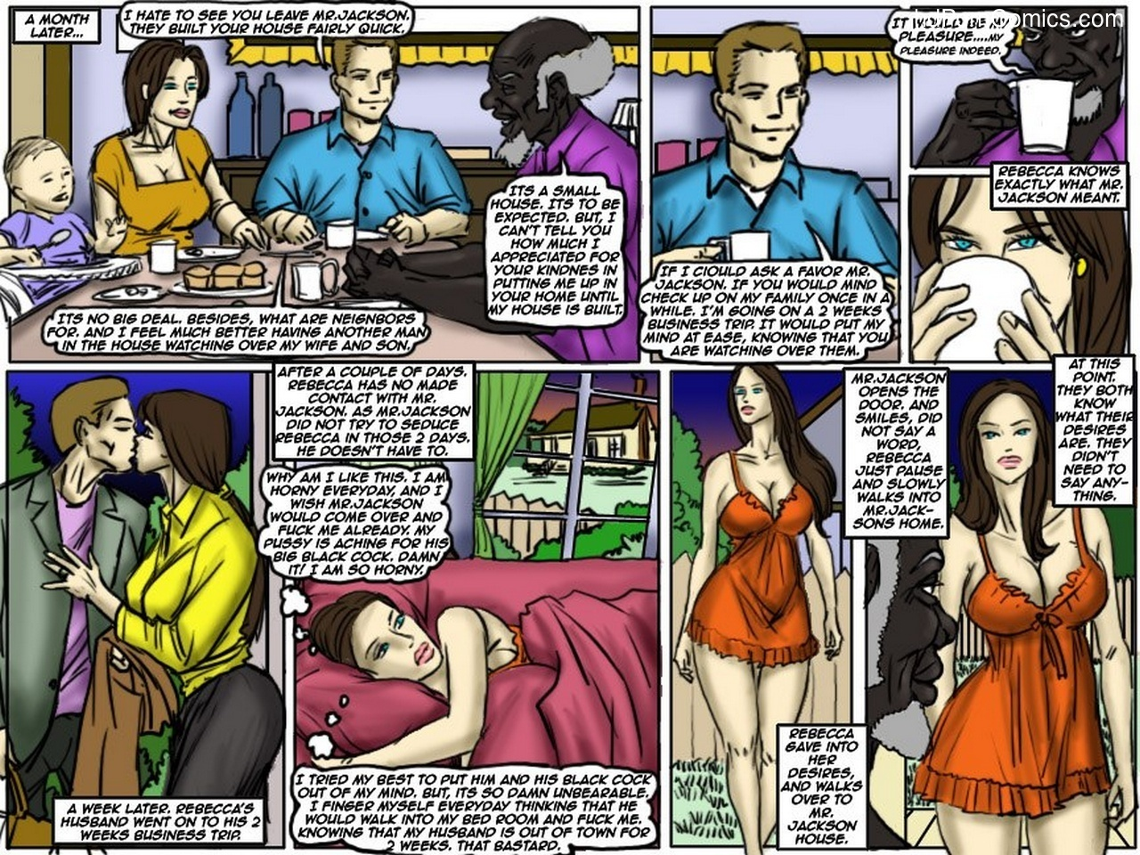 Illustrated Interracial And Blacknwhite Comics