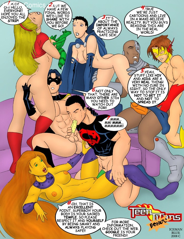 Iceman Blue- Sex Education (Teen Titans) free Porn Comic