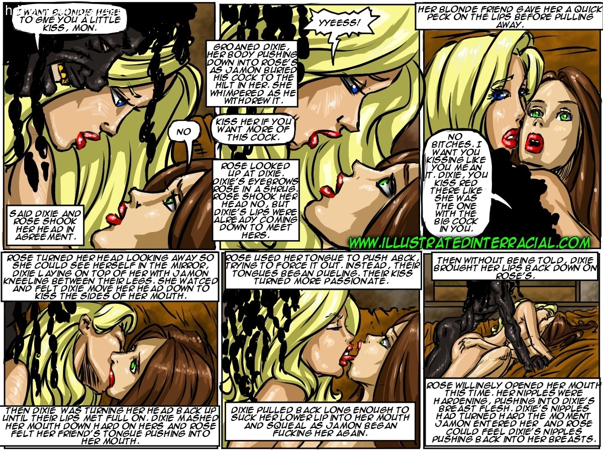 Ilustrated Interracial-Flag Girls free Porn Comic