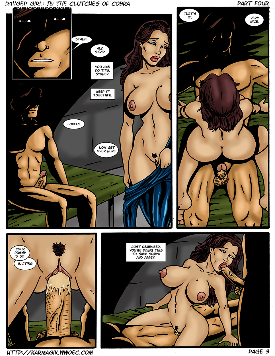 Karmagik- Danger Girl In the Clutches of Cobra17 free sex comic
