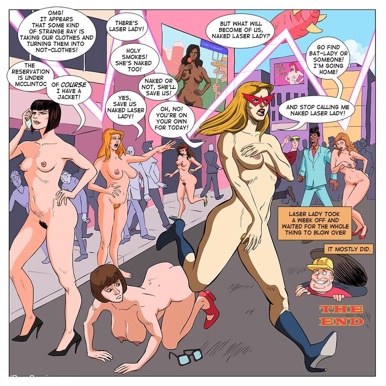 Laser Lady Sex Comic