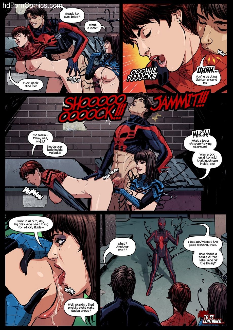 Like Spider-Father, Like Spider-Daughters Sex Comic