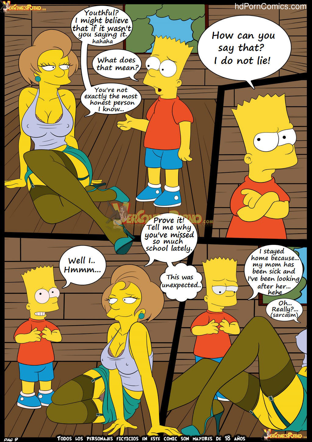 Los Simpsons 5- New Lessons10 free sex comic