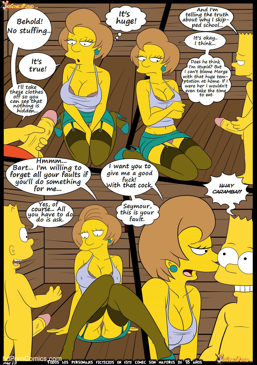 Los Simpsons 5- New Lessons14 free sex comic