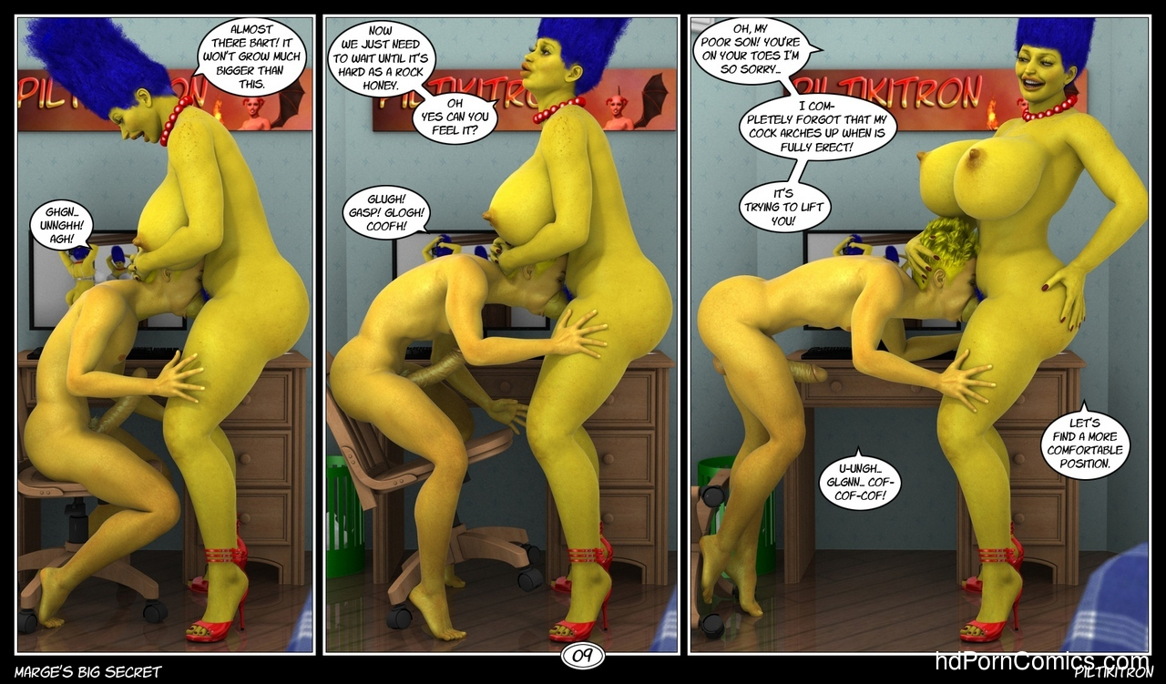 Marge's Big Secret 10 free sex comic