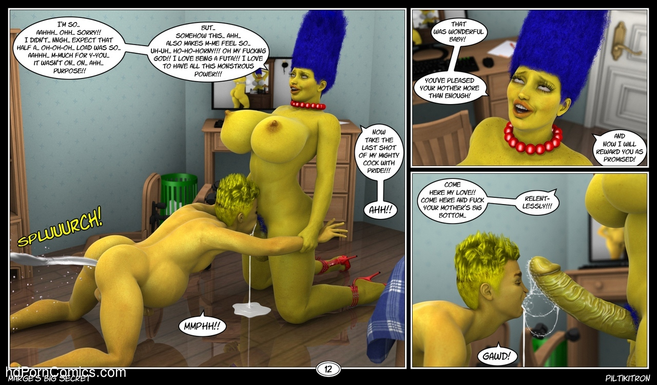 Marge's Big Secret 13 free sex comic