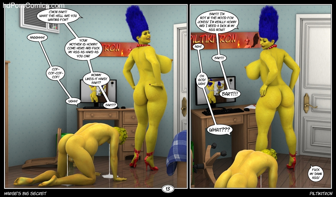Marge's Big Secret 14 free sex comic