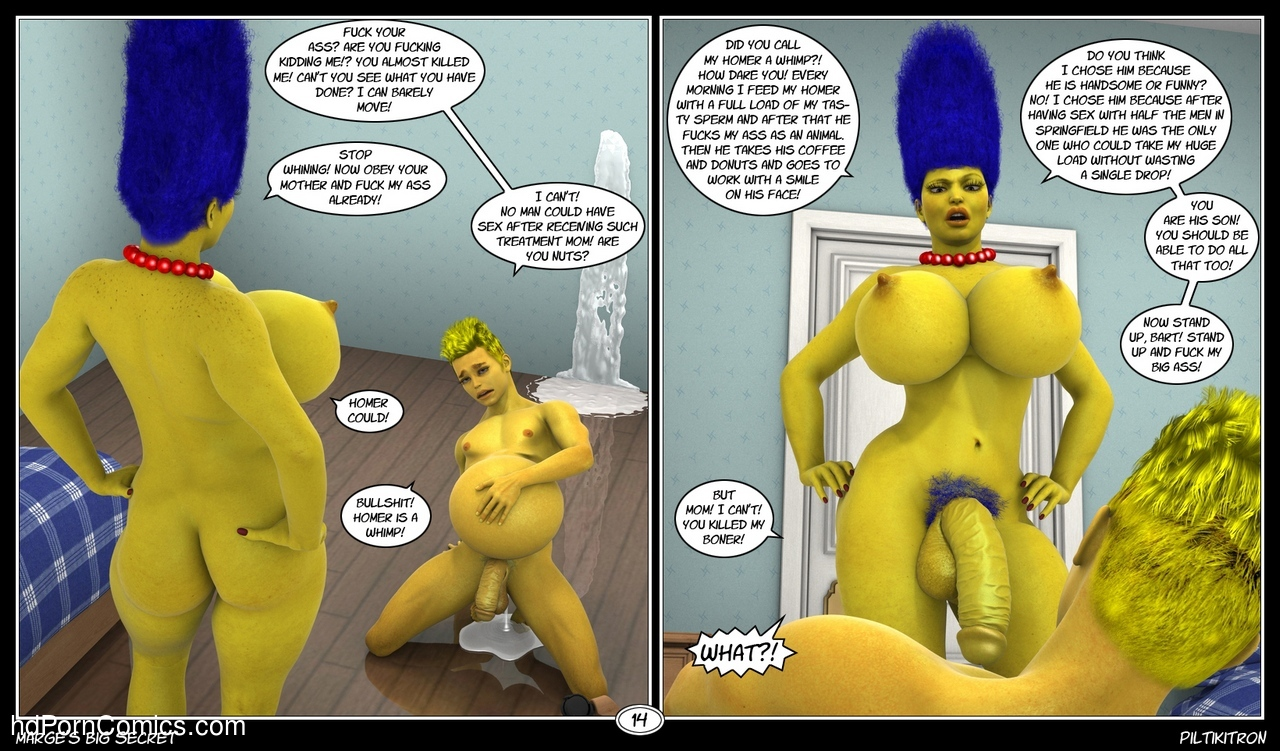 Marge's Big Secret 15 free sex comic