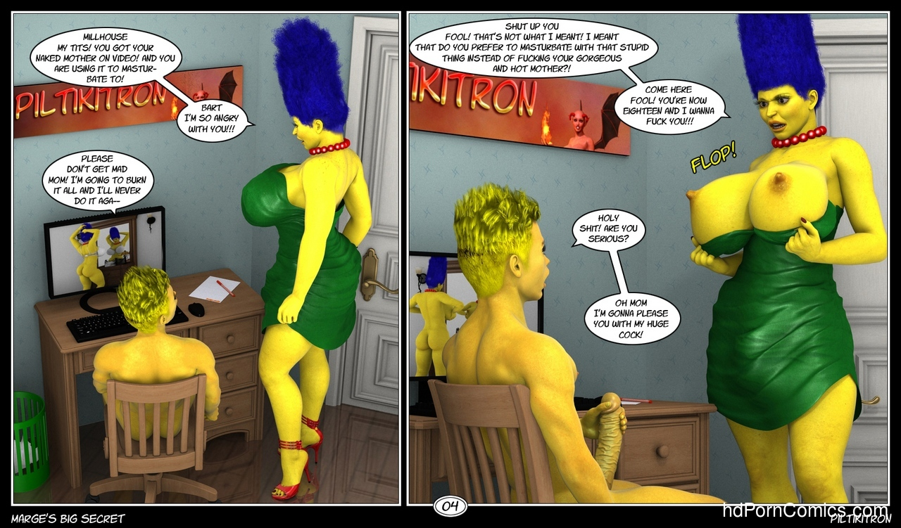 Marge's Big Secret 5 free sex comic