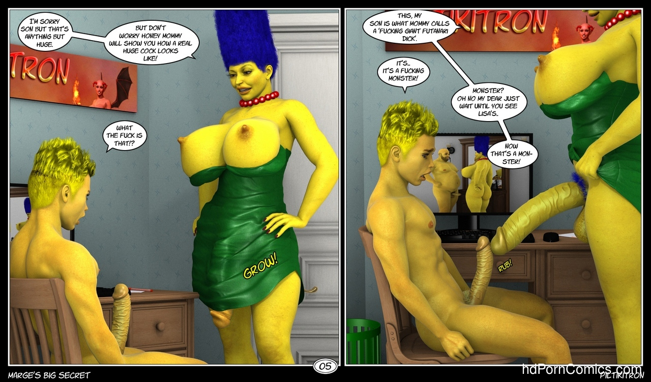 Marge's Big Secret 6 free sex comic