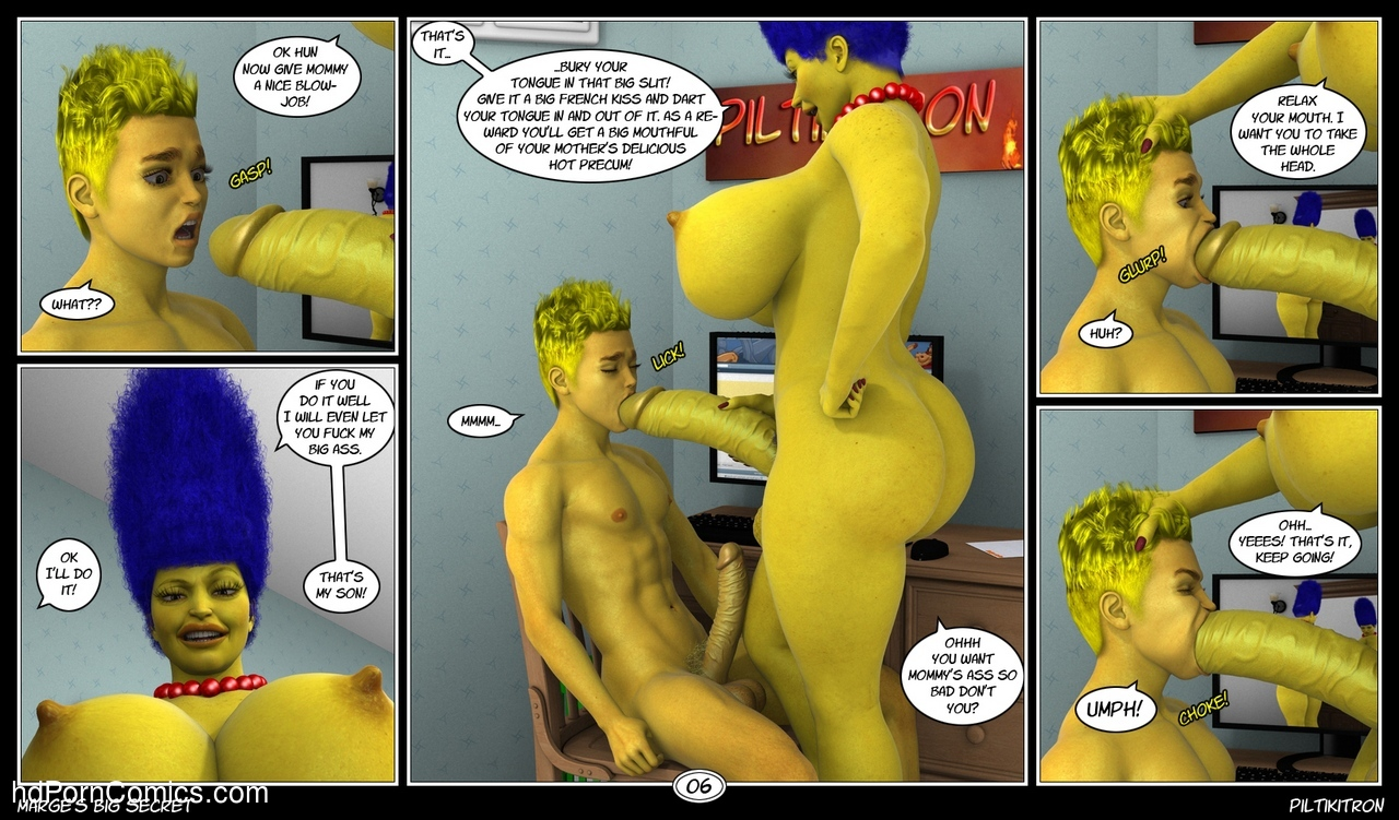 Marge's Big Secret 7 free sex comic