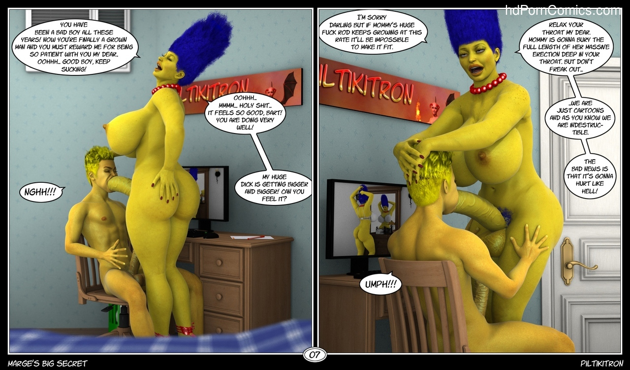 Marge's Big Secret 8 free sex comic