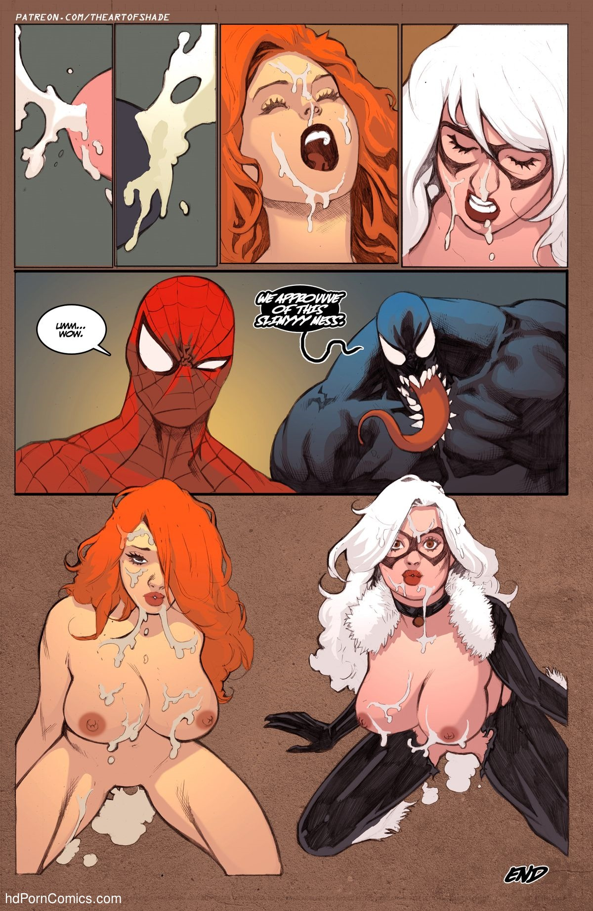 Jane and venom man mary spider