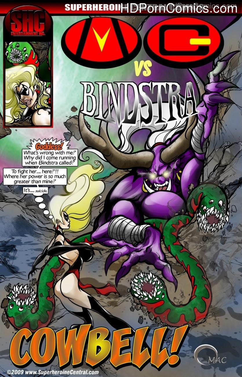 Mega Girl vs Bindstra – Cowbell Sex Comic