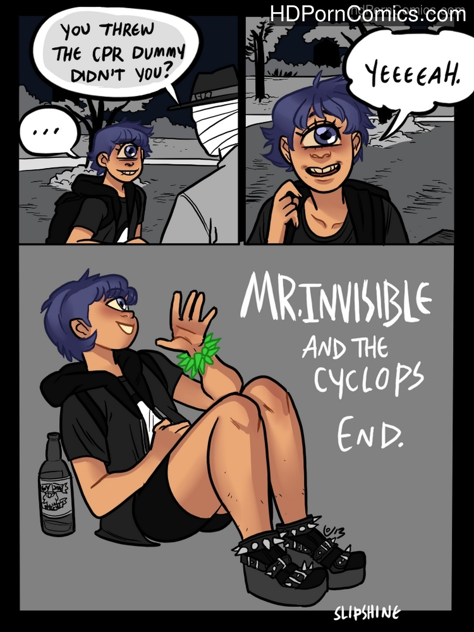 Mr Invisible & The Cyclops Sex Comic