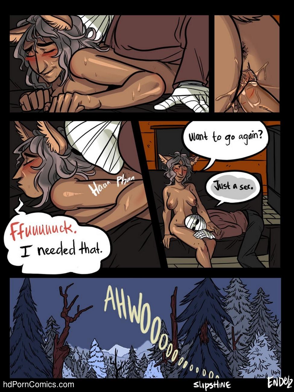 Mr Invisible & The Werewolf comic porn
