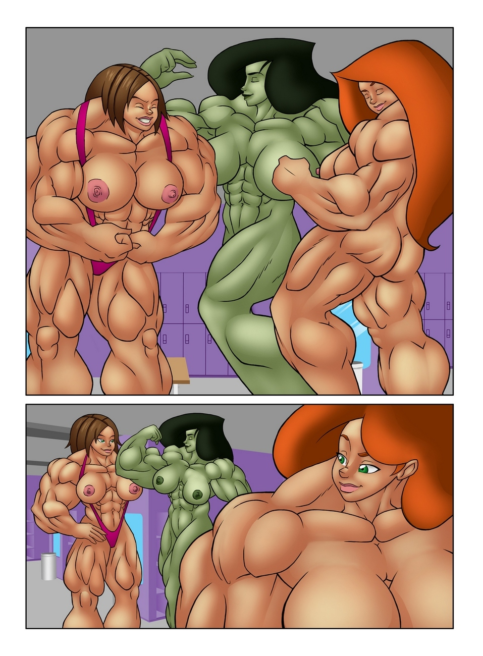 Muscle Contest 18 free sex comic