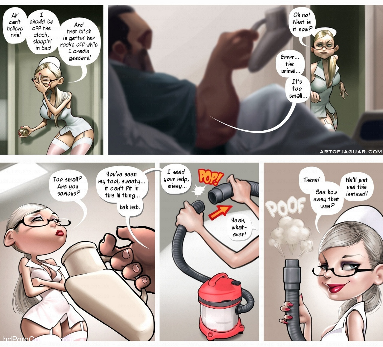 Night Nurse Sara 4 free sex comic