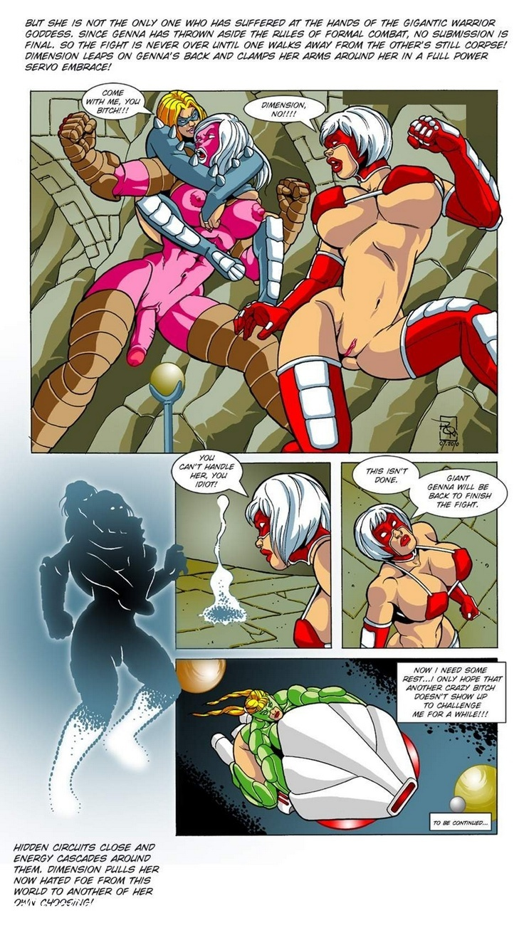 Omega Fighters 2 – Red Fist VS Giant Genna Sex Comic