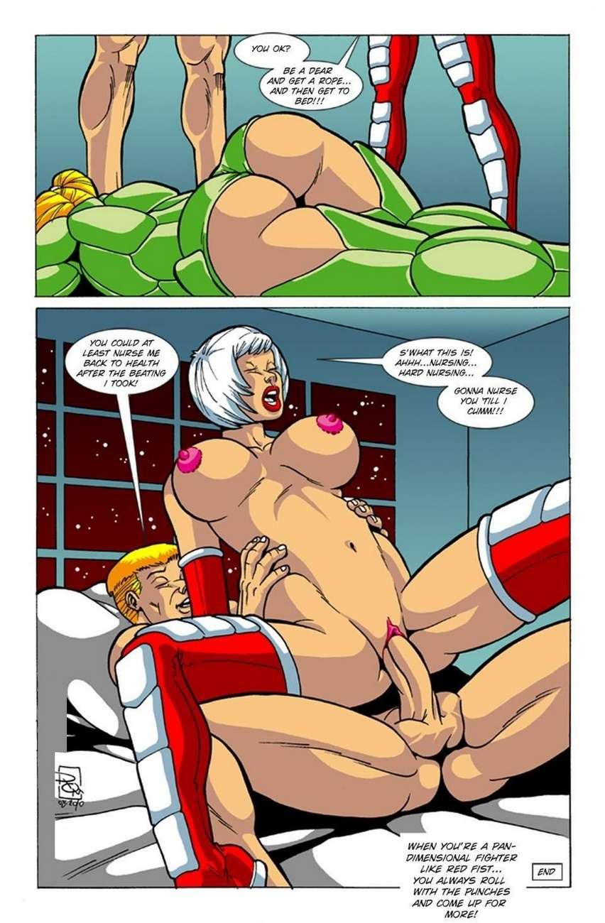 Omega Fighters 3 – Red Fist VS Polly Punch Sex Comic