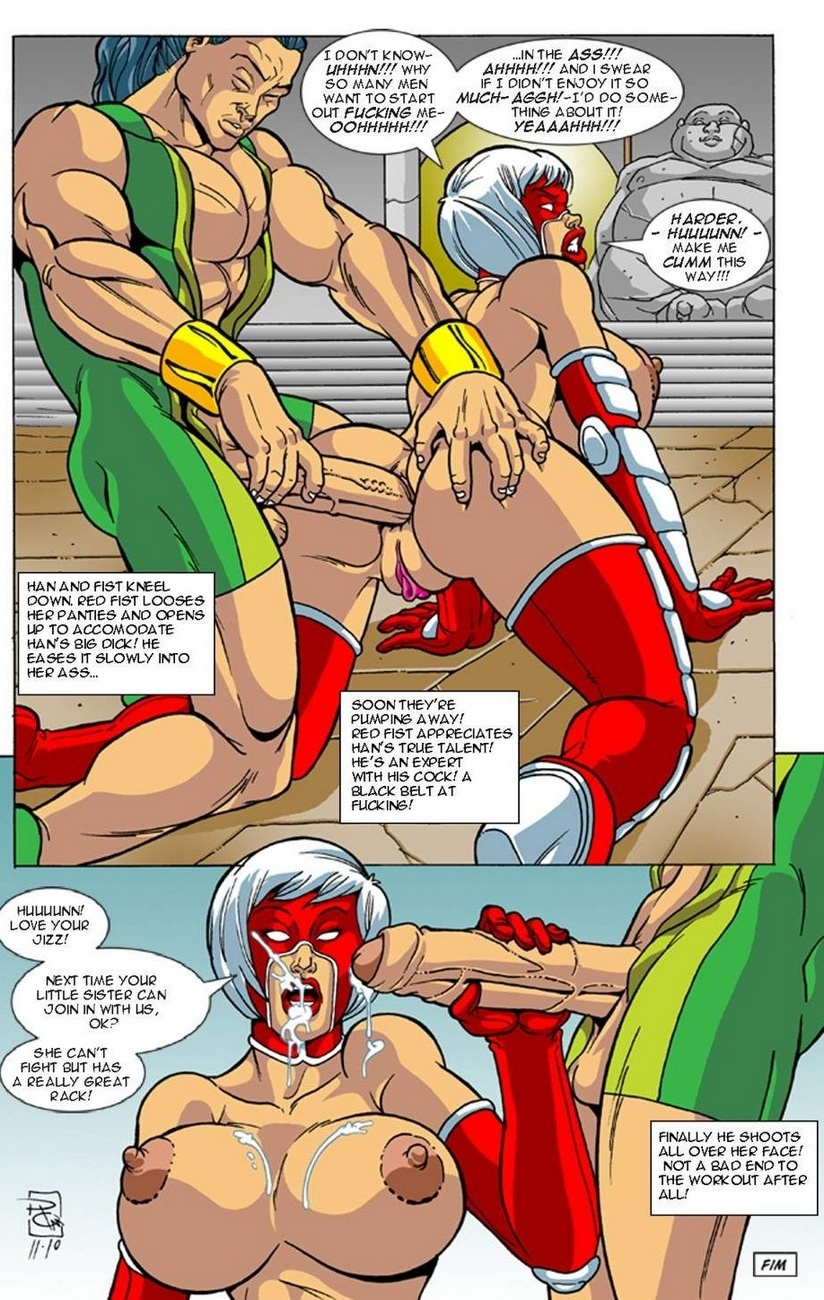 Omega Fighters 5 – Red Fist VS The Dragons Sex Comic