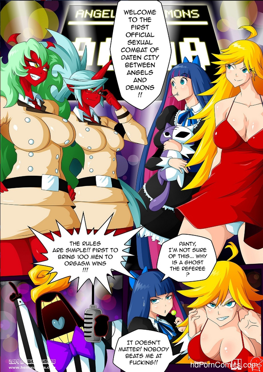 Panty & Stocking Angels vs Demons 2 free sex comic