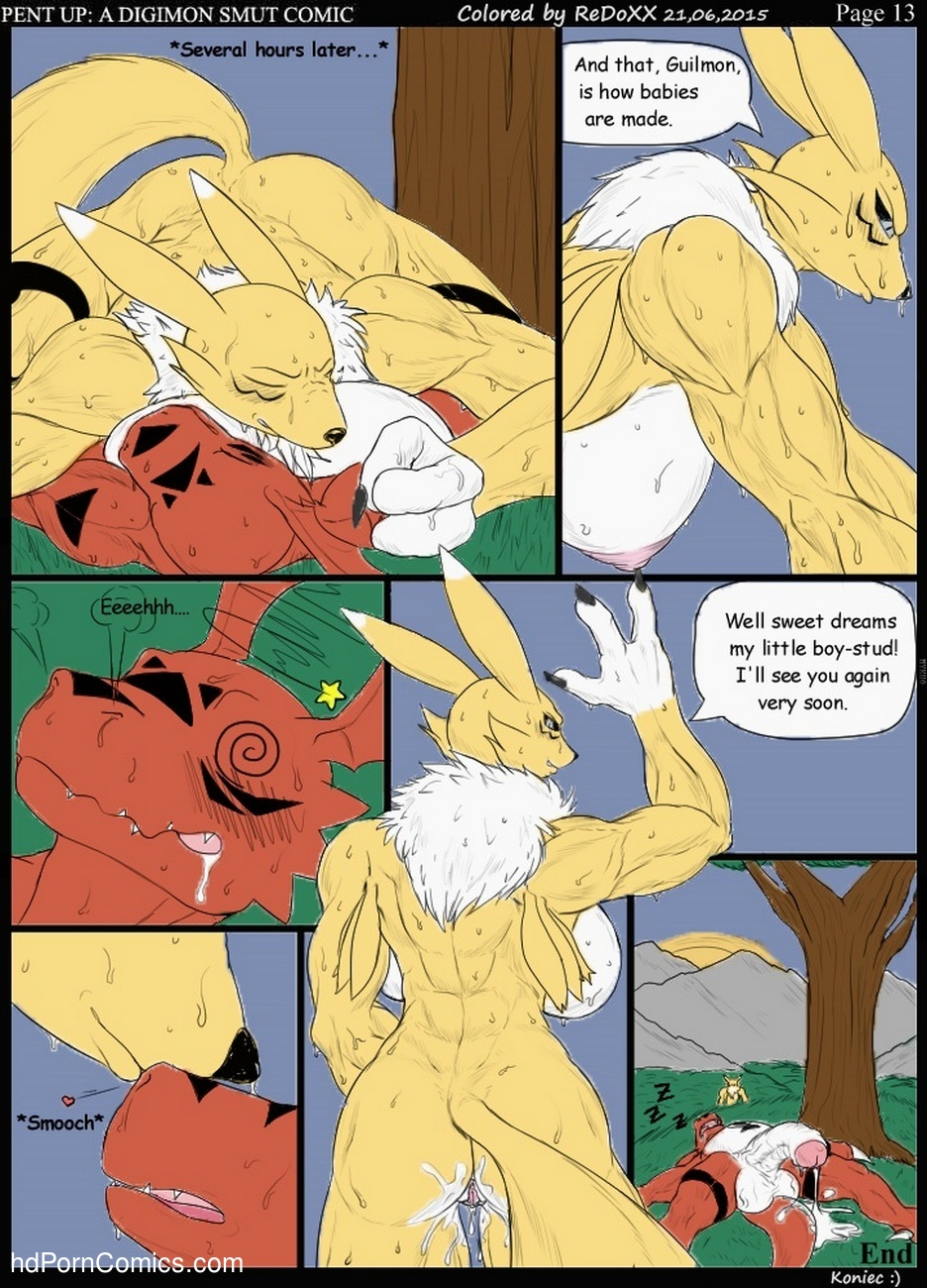 Pent Up – A Digimon Smut Comic Sex Comic