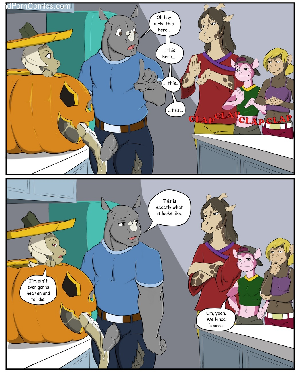 Pumpkin Pie Sex Comic