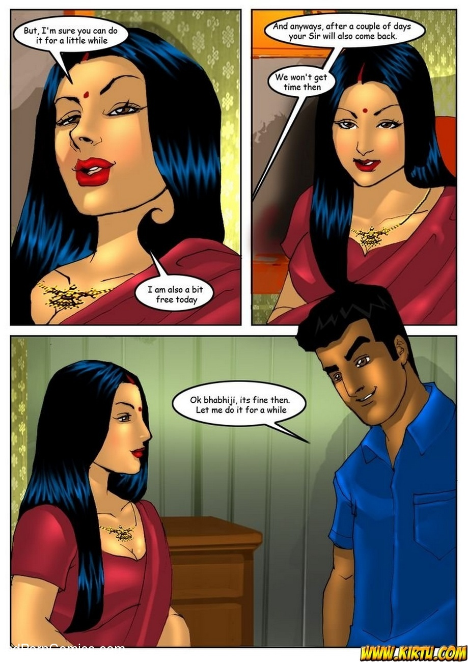 Savita Bhabhi 5 - Servant Boy 10 free sex comic