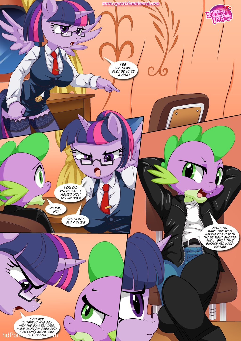 Sex Ed with Miss Twilight Sparkle (My Little Pony Friendship Is Magic) - Porncomics17 free sex comic