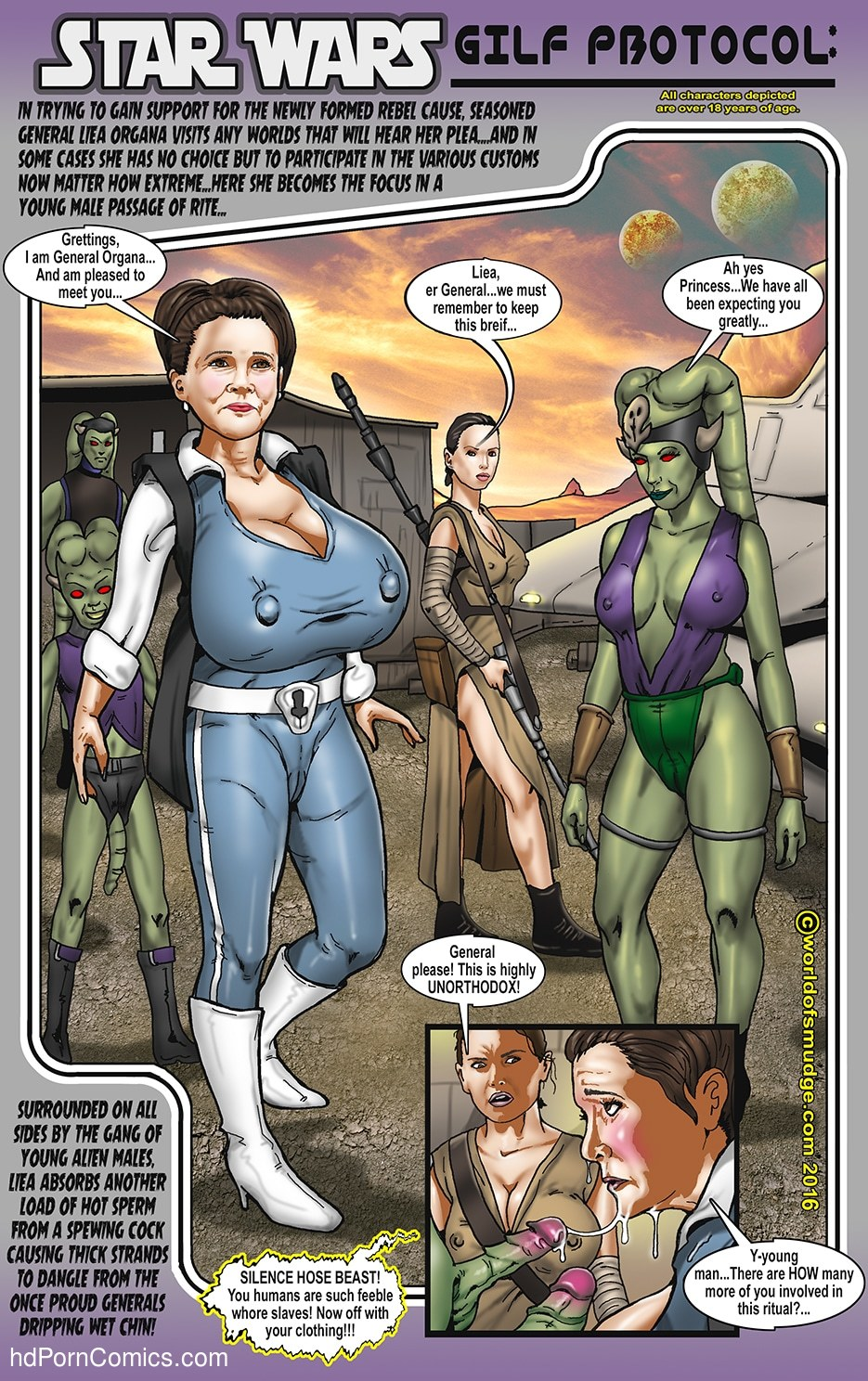 Smudge – Leia and Lando Star Wars2 free sex comic