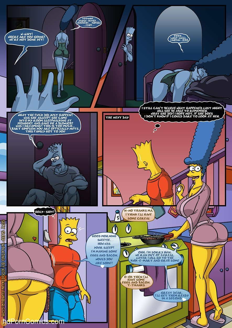 The Simpsons - Sexy Sleep Walking7 free sex comic