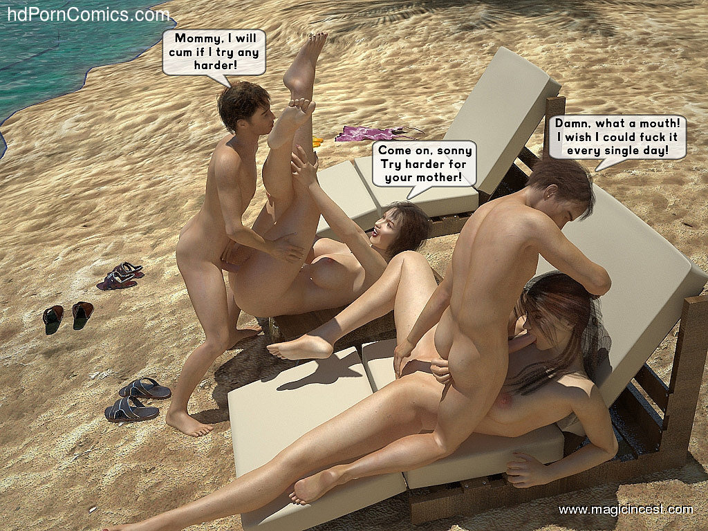 The hot orgy in the hot sun32 free sex comic