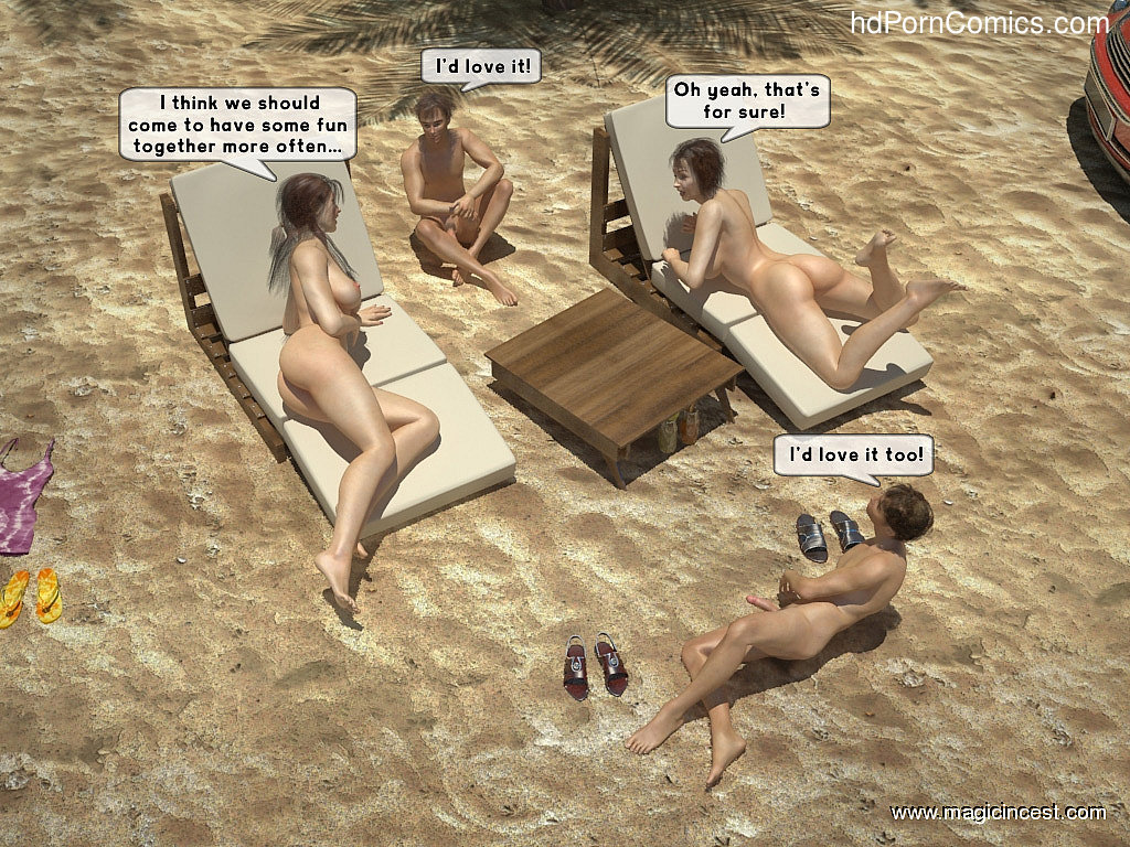 The hot orgy in the hot sun free Cartoon Porn Comic